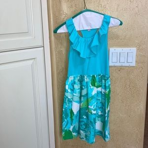 Lily dress teal blue